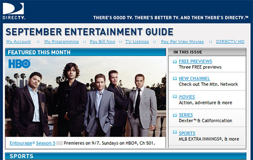DIRECTV Programming Newsletter