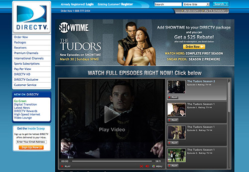 DIRECTV SHOWTIME Video PLayer